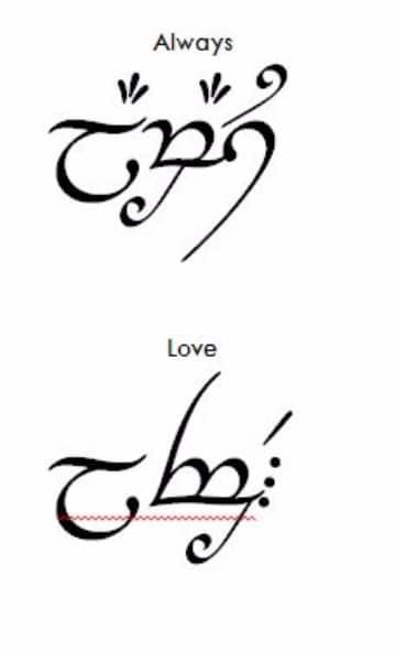 letras elficas para tatuajes con frases