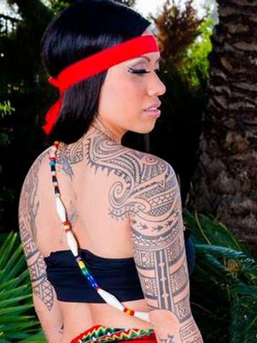 tattoo tribales para mujeres en el brazo