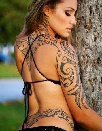 tattoos tribales en el brazo mujeres