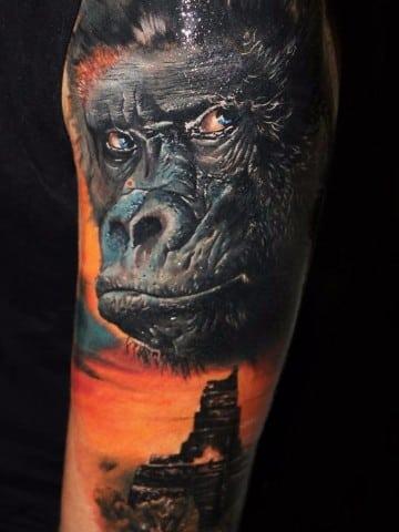 tatuajes en 3d de animales en el brazo