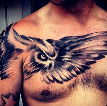 tatuajes en 3d de animales en el hombro