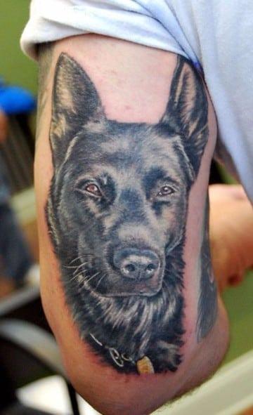tatuajes en 3d de animales perros