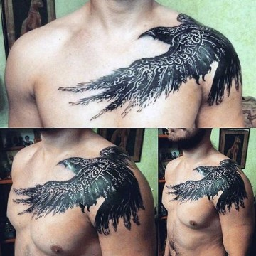 tatuajes en hombros para hombres grandes