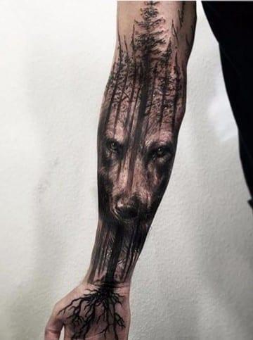 tatuajes para todo el brazo completo de animales