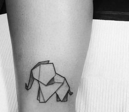 tatuajes de animales geometricos pequeño