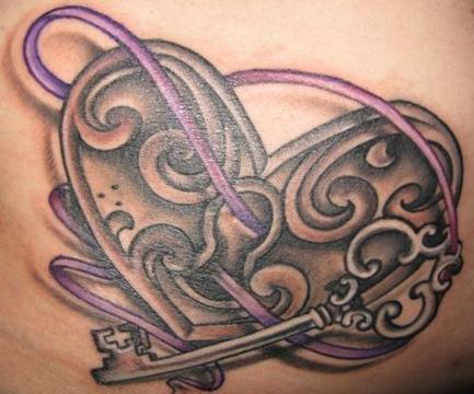 tatuajes de candados y llaves en 3D