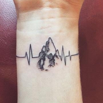 tatuajes de electrocardiograma en la muñeca