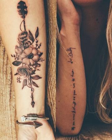 tatuajes de flechas para mujeres en el brazo