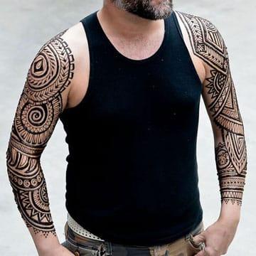 tatuajes de henna para hombres en el brazo