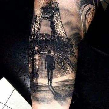 tatuajes de la torre eiffel 3D