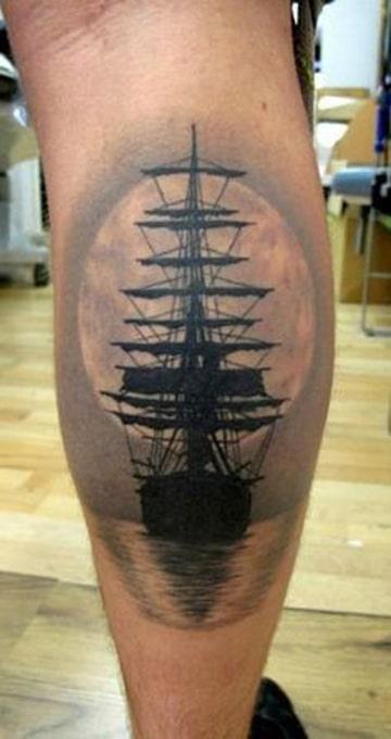 tatuajes en el chamorro para hombre barco