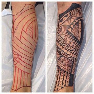 tatuajes maories en el brazo para hombre