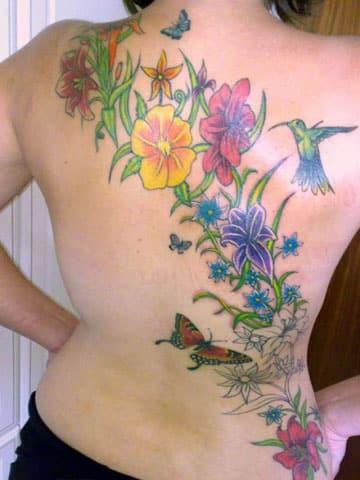 imagenes de colibries para tatuajes en la espalda