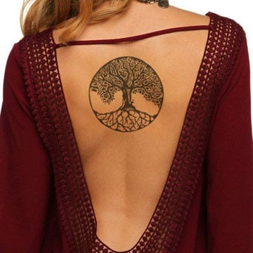 imagenes de tatuajes del arbol de la vida en la espalda