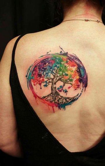 imagenes de tatuajes del arbol de la vida grande