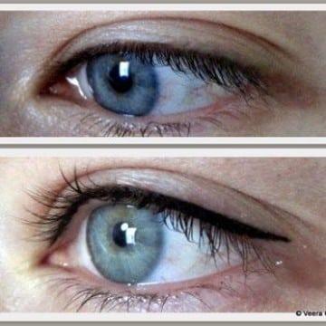 tatuaje delineado de ojos permanente