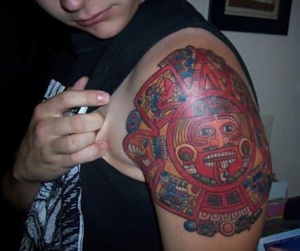tatuajes aztecas y su significado a color