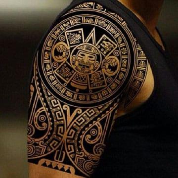 tatuajes aztecas y su significado en el hombro
