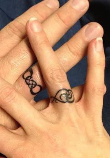tatuajes de anillos para parejas imagenes
