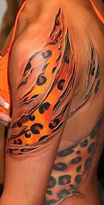 tatuajes de animal print 3D