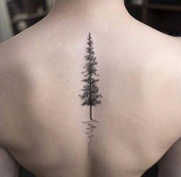 tatuajes de bosques en el brazo imagenes