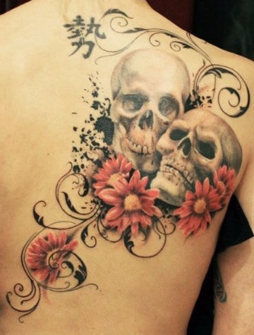 tatuajes de calaveras para parejas imagenes