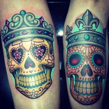 tatuajes de calaveras para parejas mexicanas