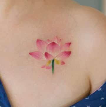 tatuajes de colores para mujeres delicado
