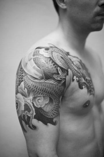 tatuajes de dragones chinos brazo