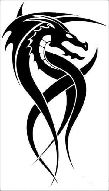 tatuajes de dragones tribales dibujo