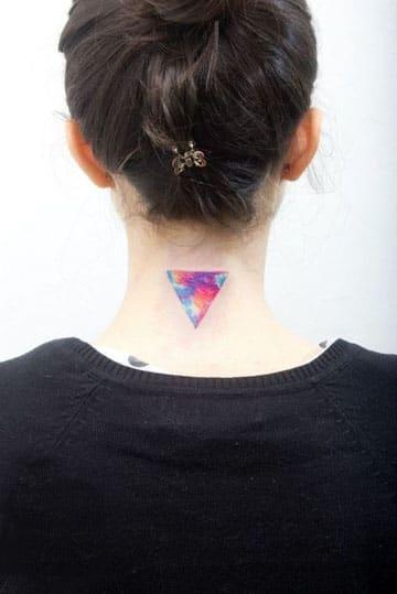 tatuajes de figuras geometricas a color