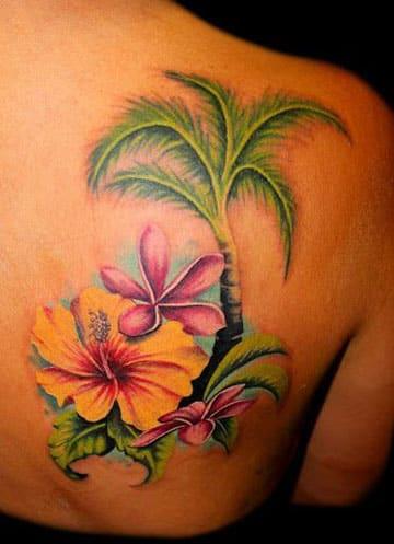 tatuajes de flores hawaianas imagenes