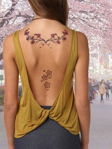 tatuajes de flores japonesas espalda