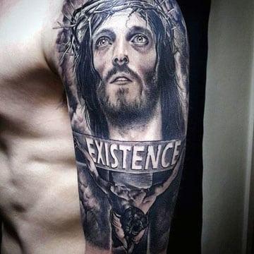 tatuajes de jesus en 3d cristo