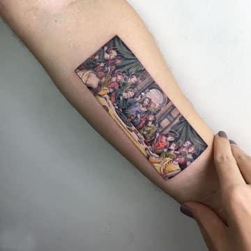 tatuajes de la ultima cena pequeño