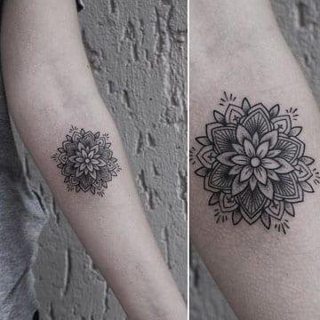 tatuajes de mandalas en el brazo pequeño