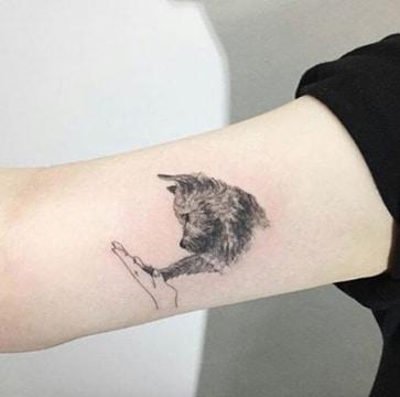 tatuajes de perros para mujeres brazo