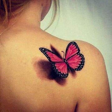 tatuajes en tercera dimensión en el hombro