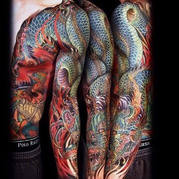 tatuajes estilo japones dragones
