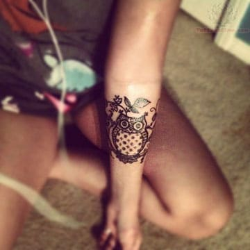 tatuajes para piel morena buho