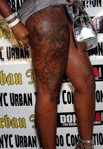 tatuajes para piel morena en la pierna