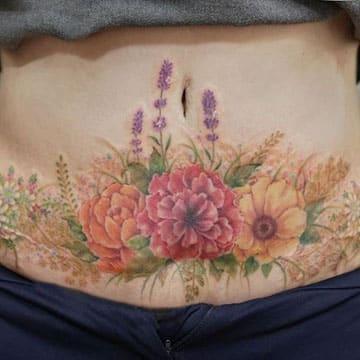 tatuajes para tapar cesareas diseños