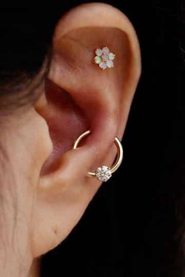 tipos de piercing en la oreja para mujer