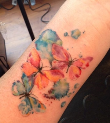 imagenes de mariposas para tatuajes de colores