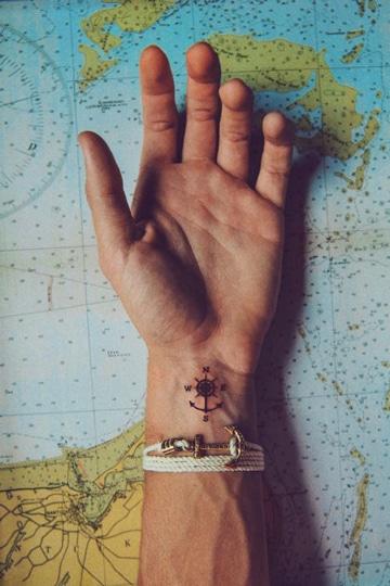 tatuajes chiquitos para hombres viajeros