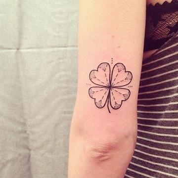 tatuajes de buena suerte y proteccion trebol