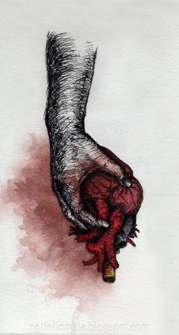 tatuajes de corazones en la mano muñeca