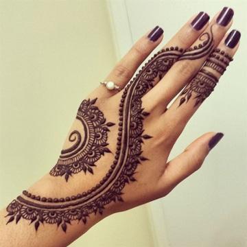 tatuajes de henna faciles para manos