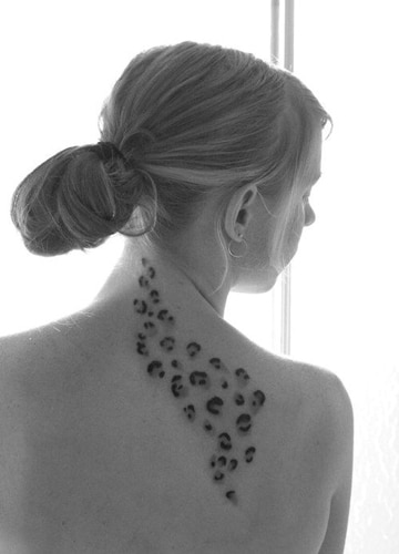 tatuajes de manchas de leopardo pequeño
