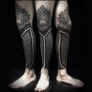tatuajes de tribales en la pierna ideas